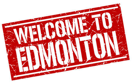 edmonton: welcome to Edmonton stamp