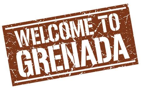 grenada: welcome to Grenada stamp
