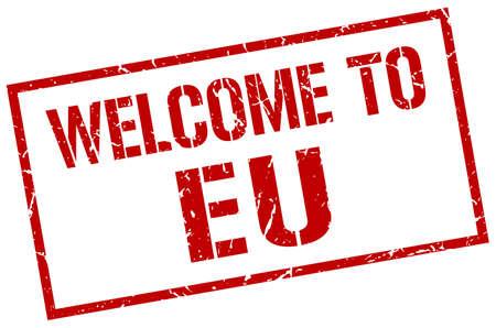 eu: welcome to eu stamp Illustration