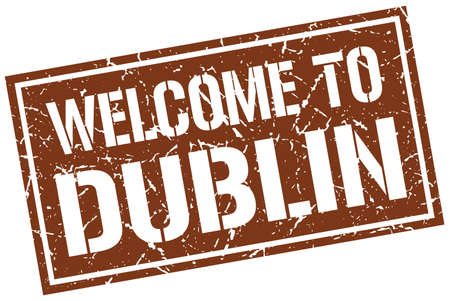 dublin: welcome to Dublin stamp