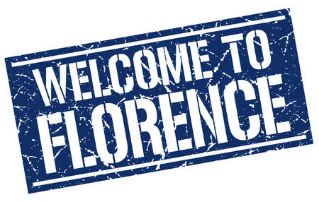 florence: welcome to Florence stamp Illustration