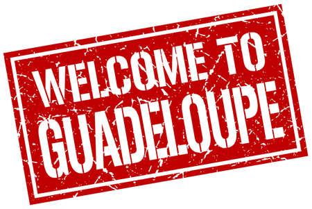guadeloupe: welcome to Guadeloupe stamp