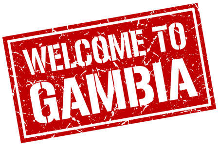 gambia: welcome to Gambia stamp