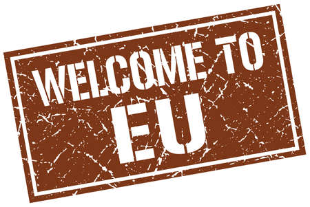 welcome to eu stamp Illustration