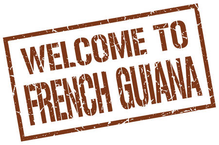 french guiana: welcome to French Guiana stamp
