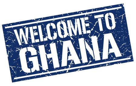 Ghana: welcome to Ghana stamp