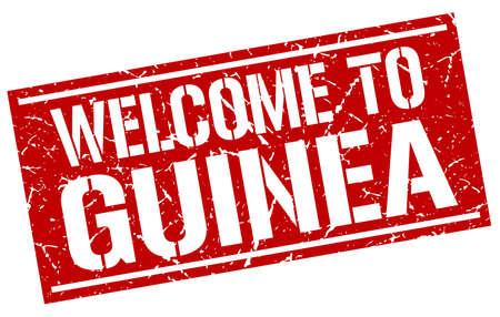 guinea: welcome to Guinea stamp