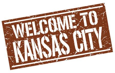 KANSAS: welcome to Kansas City stamp