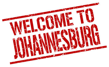welcome to Johannesburg stamp