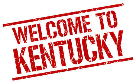kentucky: welcome to Kentucky stamp