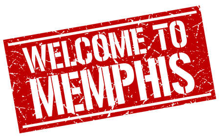 memphis: welcome to Memphis stamp