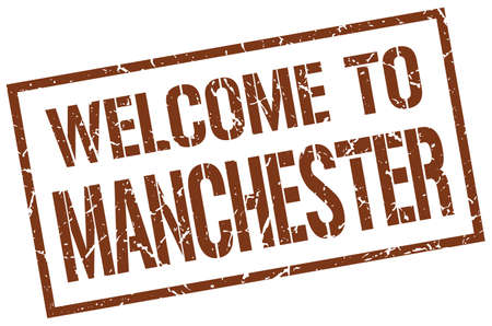 welcome to Manchester stamp Illustration