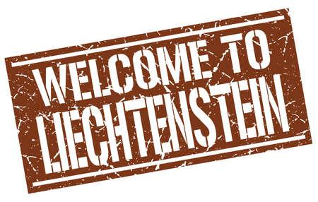 liechtenstein: welcome to Liechtenstein stamp
