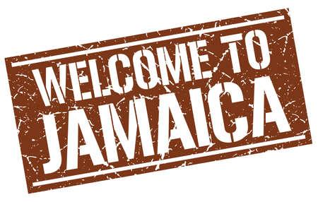 jamaica: welcome to Jamaica stamp