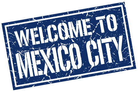 mexico city: welcome to Mexico City stamp
