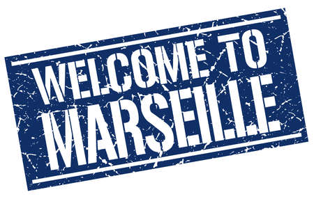 marseille: welcome to Marseille stamp