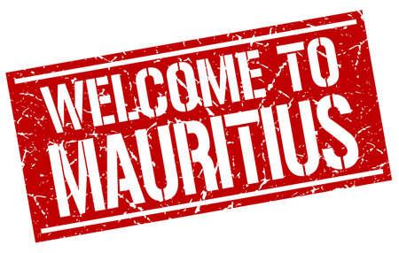 mauritius: welcome to Mauritius stamp