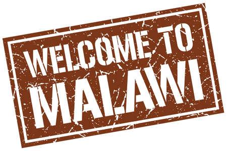 malawi: welcome to Malawi stamp