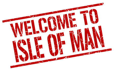 isles: welcome to Isle Of Man stamp