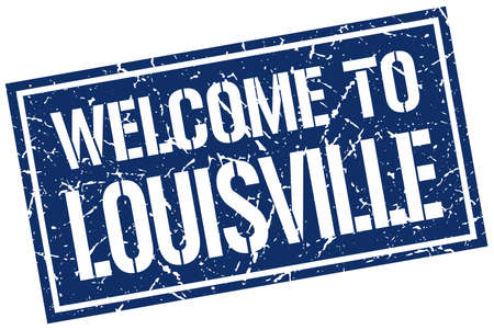 louisville: welcome to Louisville stamp