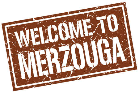 merzouga: welcome to Merzouga stamp