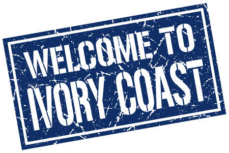 coast: welcome to Ivory Coast stamp
