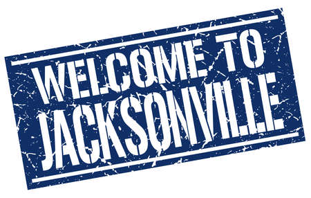 jacksonville: welcome to Jacksonville stamp Illustration
