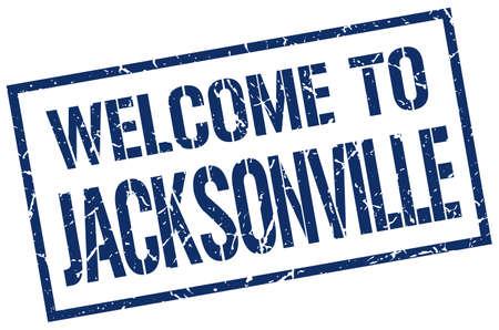 jacksonville: welcome to Jacksonville stamp Illustration