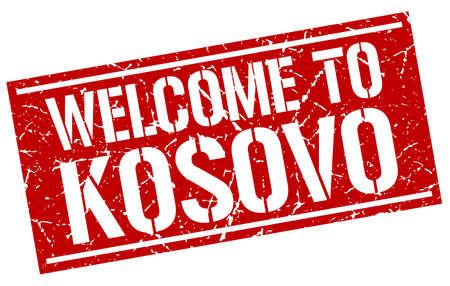 kosovo: welcome to Kosovo stamp