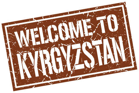 kyrgyzstan: la bienvenida a la marca de Kirguistán Vectores