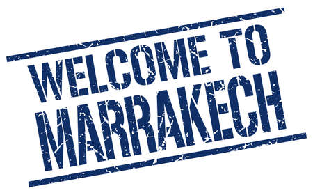 welcome to Marrakech stamp
