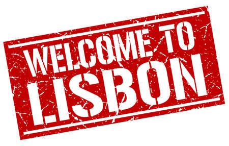 lisbon: welcome to Lisbon stamp