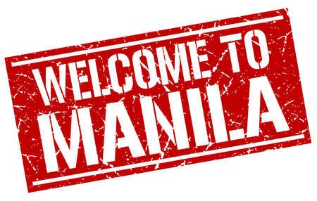 manila: welcome to Manila stamp