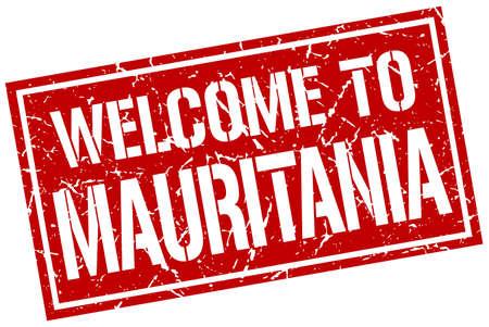 mauritania: welcome to Mauritania stamp