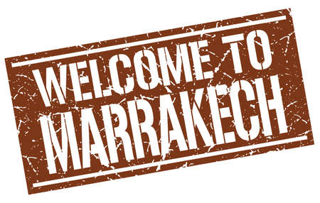 marrakech: welcome to Marrakech stamp