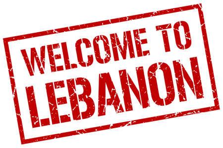 lebanon: welcome to Lebanon stamp