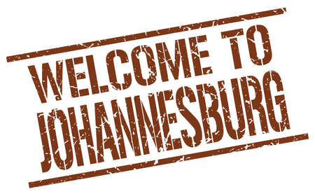 welcome to Johannesburg stamp