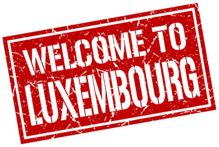 luxembourg: welcome to Luxembourg stamp