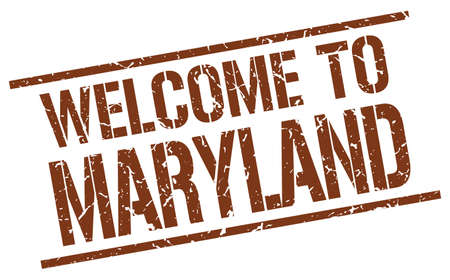 maryland: welcome to Maryland stamp