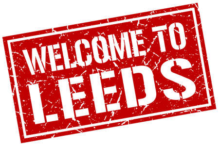 leeds: welcome to Leeds stamp