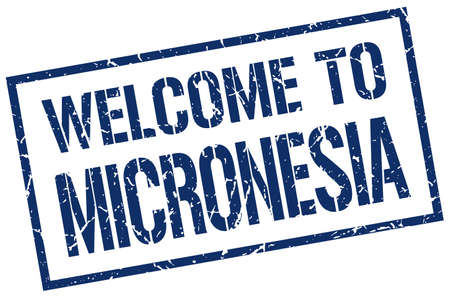 micronesia: welcome to Micronesia stamp