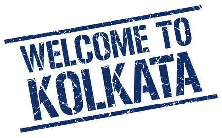 kolkata: welcome to Kolkata stamp