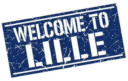 lille: welcome to Lille stamp