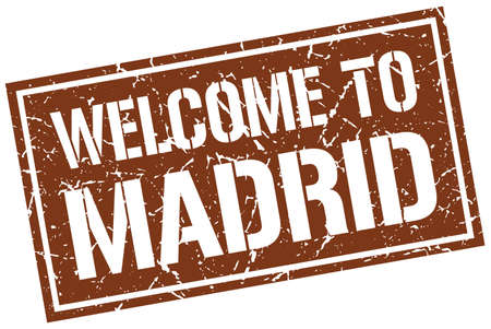 madrid: welcome to Madrid stamp Illustration