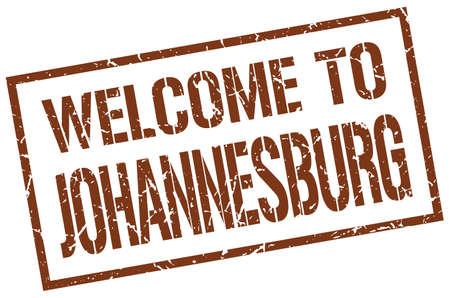 johannesburg: welcome to Johannesburg stamp