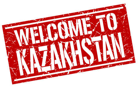 kazakhstan: welcome to Kazakhstan stamp