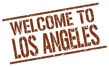 los angeles: welcome to Los Angeles stamp