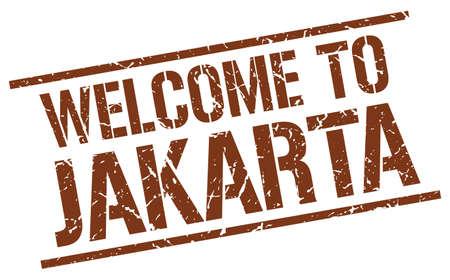 jakarta: welcome to Jakarta stamp