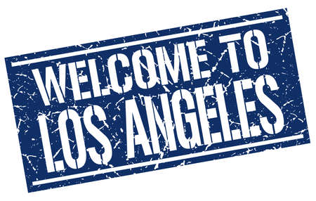 angeles: welcome to Los Angeles stamp