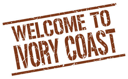 ivory: welcome to Ivory Coast stamp
